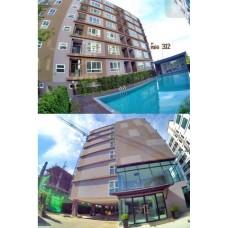 ขาย หรือเช่าคอนโด S-Fifty Condominium คอนโด พัทยาใต้ ติดถนน สุขุมวิท ขนาด 32.45 ตรม. 1นอน 1น้ำ วิวสระว่ายน้ำ